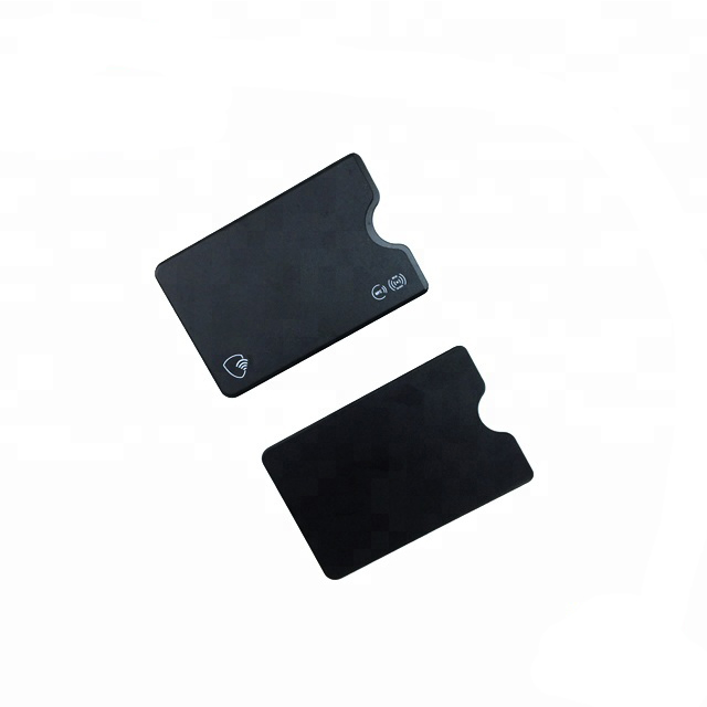 High Quality Identity Theft Prevention RFID Credit Card Holders rfid blocking PVC hard plastic slim card case cover holder