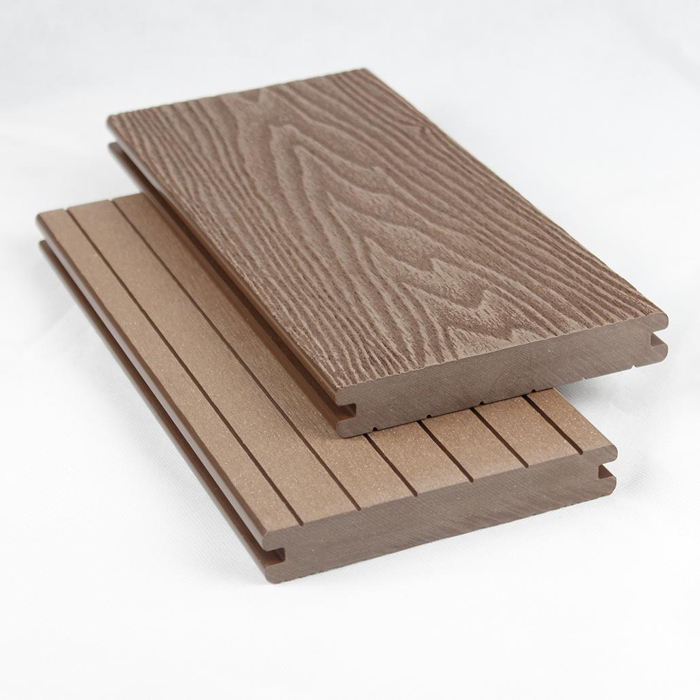 Outdoor impermeabile solido artificiale in legno ad incastro decking composito materiali del pavimento