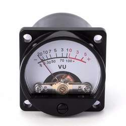 500UA Panel VU Meter 6-12V Bulb Warm Back Light Recording Au
