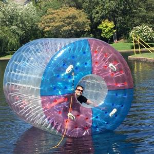 Custom Inflatables game Water Roller Inflatable Wheel Roller Bubble Water Walker Zorbing Roll Ball