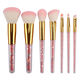 New 7 pieces transparent makeup brush crystal diamond handle makeup brush set of eyeshadow brush beauty tools wholesale