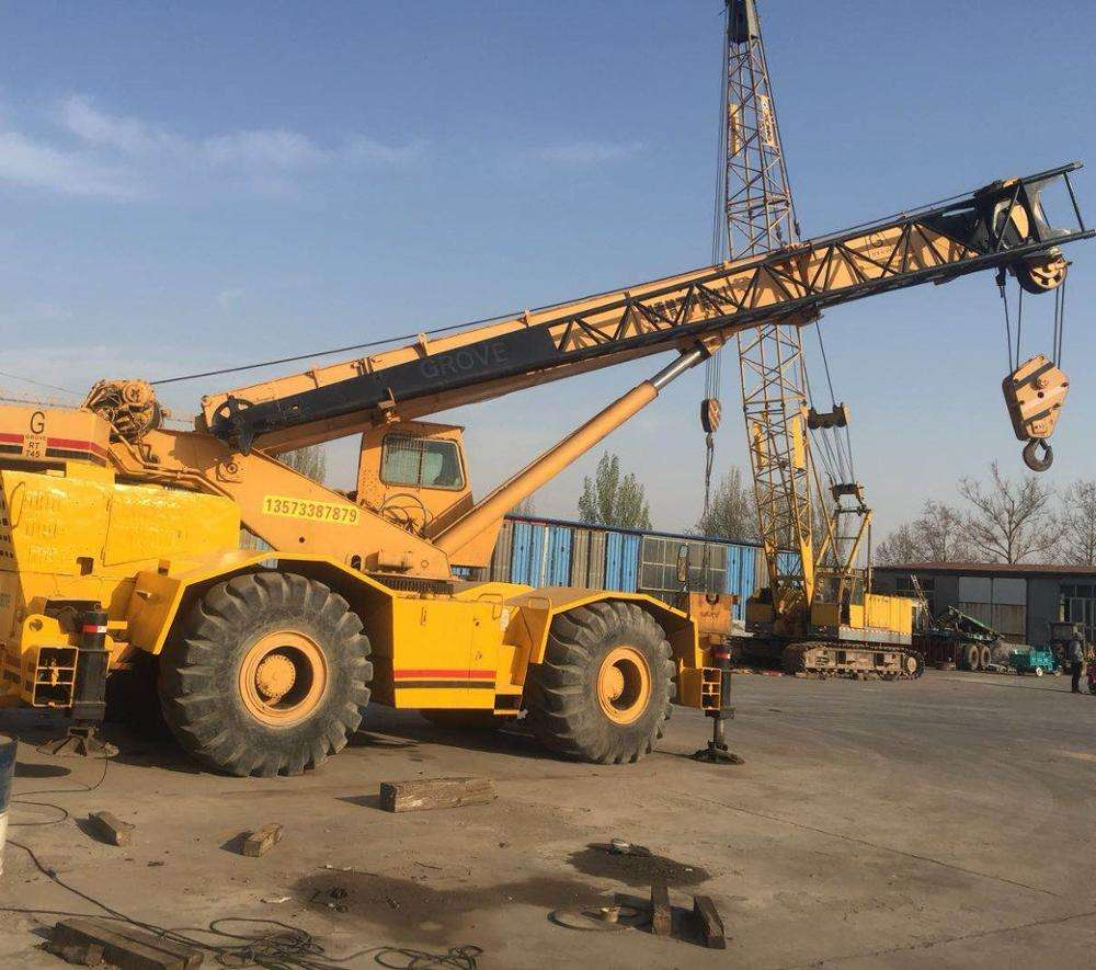 US made RT745 45t all terrain crane used condition Grove RT750 RT780 50T 80t rough terrain crane 0086 15026518796