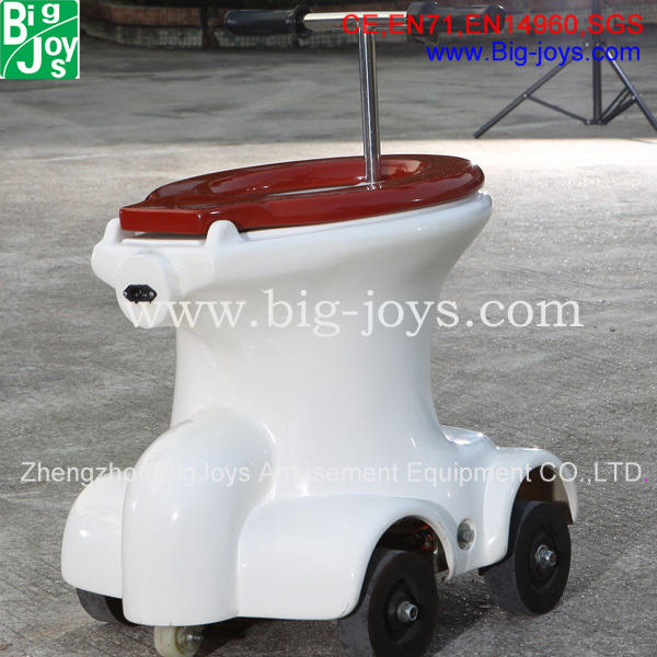 Battery Operated Toilet Racers,Kids toilet ride for sale,Unique design Go Racers Loo Races