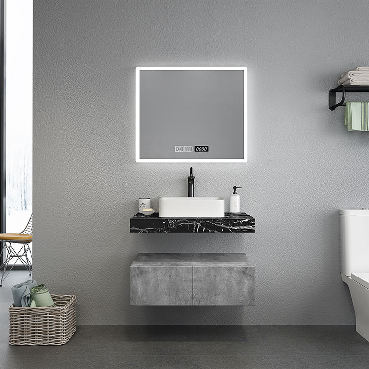 Factory Solid Resin Stone Basin Ceramic Table Wall Mounted Plywood Bathroom Mirror Cabinet Over Toilet