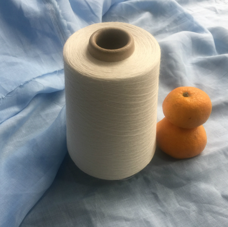 Organic and recycled white 100% ramie yarn