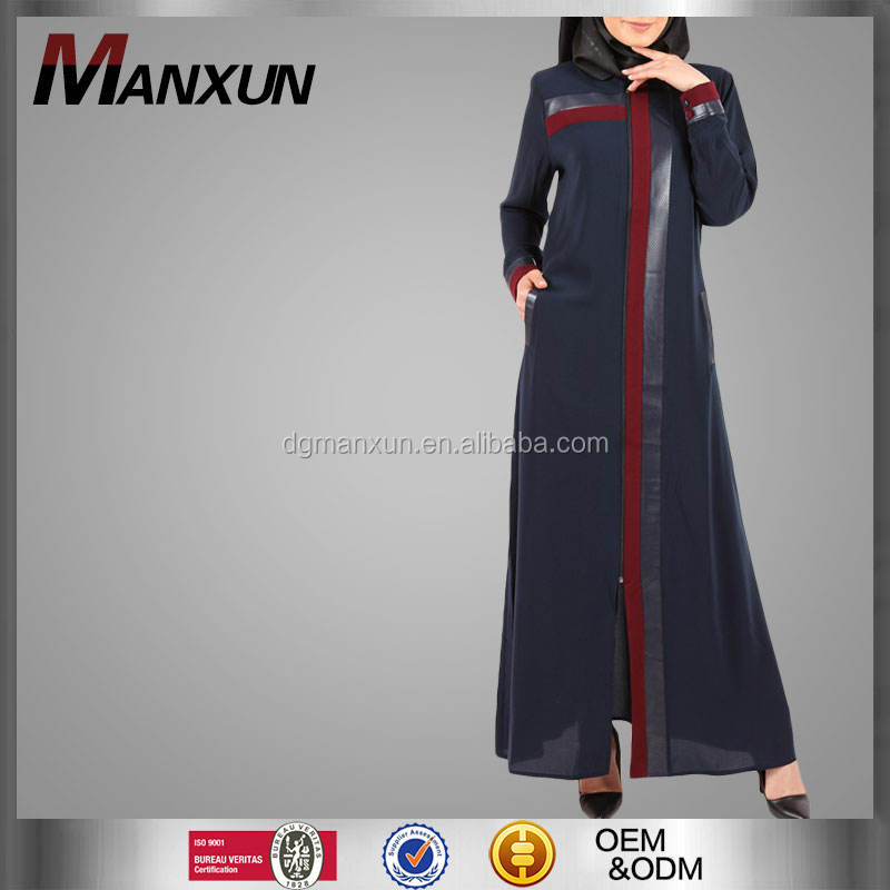 2017 high fashion black dubai abaya fashion