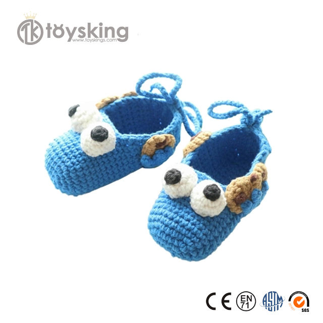 100% Handmade Crochet Organic Cotton Knit Infant Sho with Excellent Workmanship by Skilled Craftsman from China Directly Supply