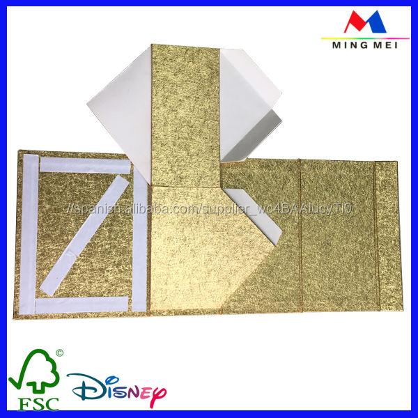 De gama alta de oro reciclado de papel <span class=keywords><strong>casa</strong></span> forma caja de regalo plegable con cierre de imán