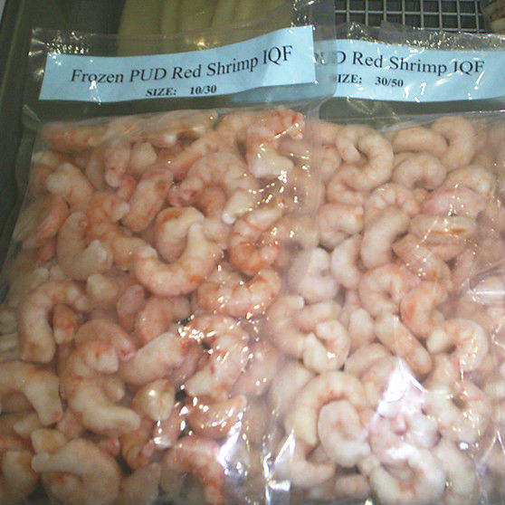 Frozen seafood PUD Red Shrimp 30/50