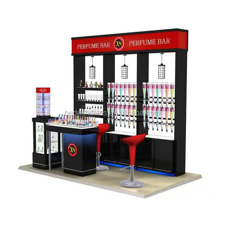 Custom cosmetic display stand retail makeup display stand for kiosk shopping mall