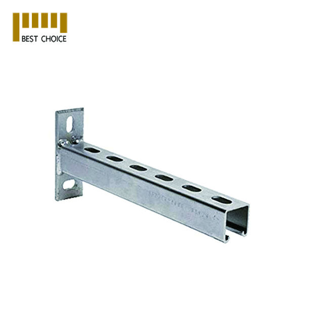 Galvanized light steel c channel unistrut bracket