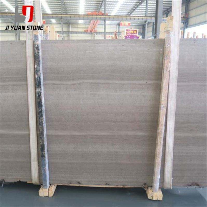 Good Price Wooden Marble Wood Vein Slabs Gray Bathroom Decoration