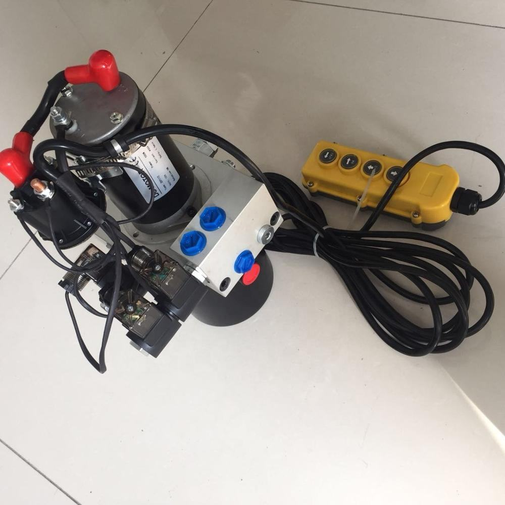 hydraulic pump unit for snow plow with CMC manifold