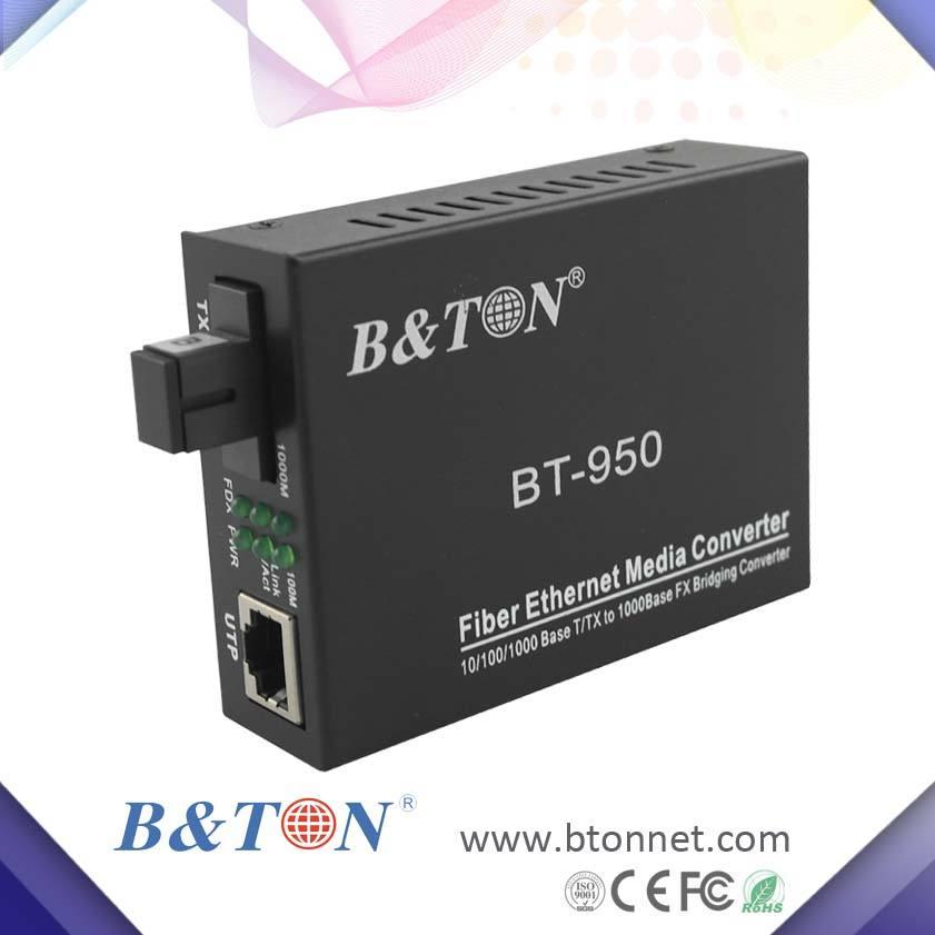 оптоволоконный медиаконвертер 10/100/1000М single model fiber media converter оптоволоконный медия конвертер RJ45 Ethernet