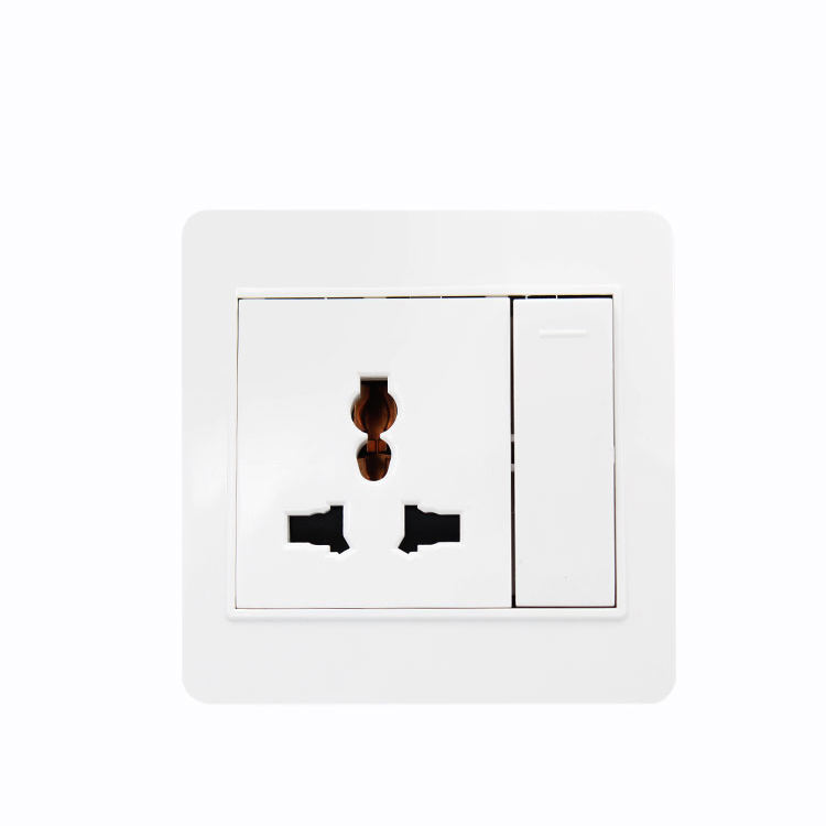 Multi fungsi internasional wall outlet listrik ac socket dan multi pin 13a 1 geng 3 pin socket beralih