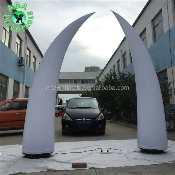 Fashion Show / Stage Decoration Inflatable Tusk Pillar 10ft High Event Tusk Inflatable 3m Y200