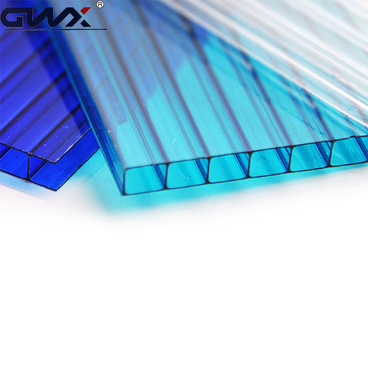 Makrolon 4mm Clear Cell Polycarbonate Panel Double Wall Plastic sheet