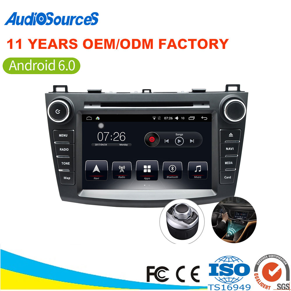 Fast delivery touch screen car dvd player radio navigation for caska mazda 3