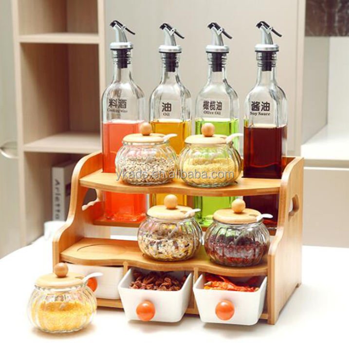 Home Kitchen spice 3-layer rack with wheel