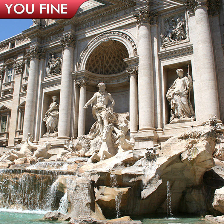Rome Poseidon Decorative Trevi Stone Garden Water Fountain
