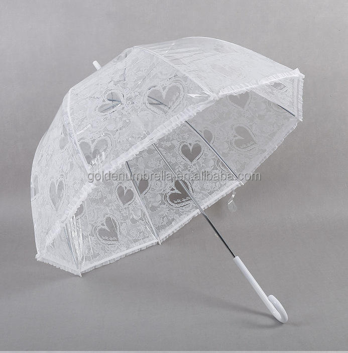 High Quality Lady Style Lace white wedding umbrella