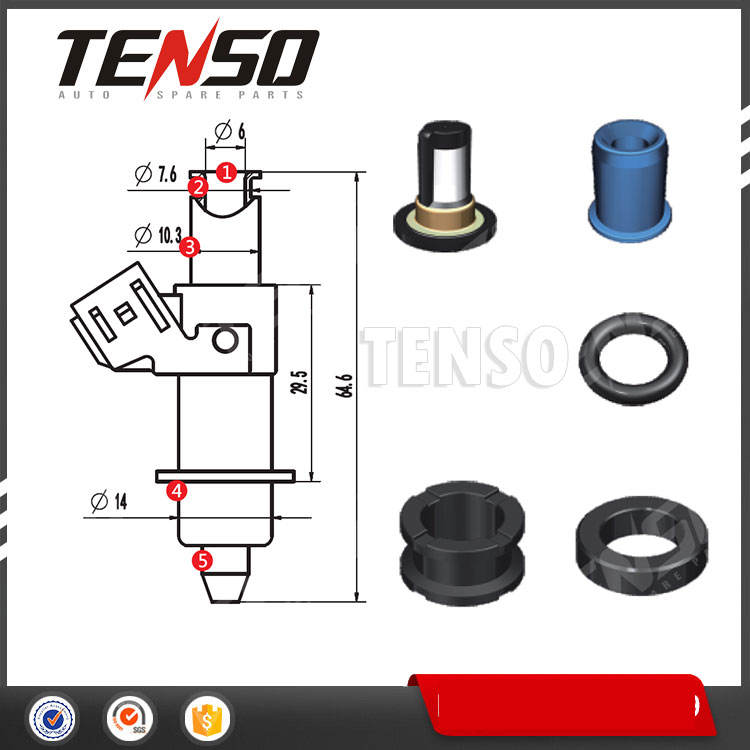 4 Cylinder Fuel Injector Seal O-Ring Kit for Acura RDX 410cc Fuel Injectors