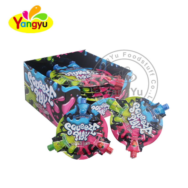 3 Flavors soft Jelly Jam candy sweet with creative cool package