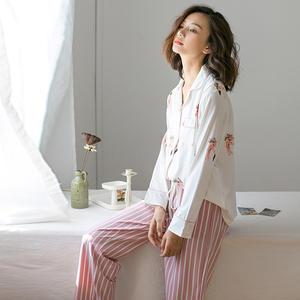2019 Fall season women pajamas low MOQ women sleepwear Flamingo breastfeeding pajamas