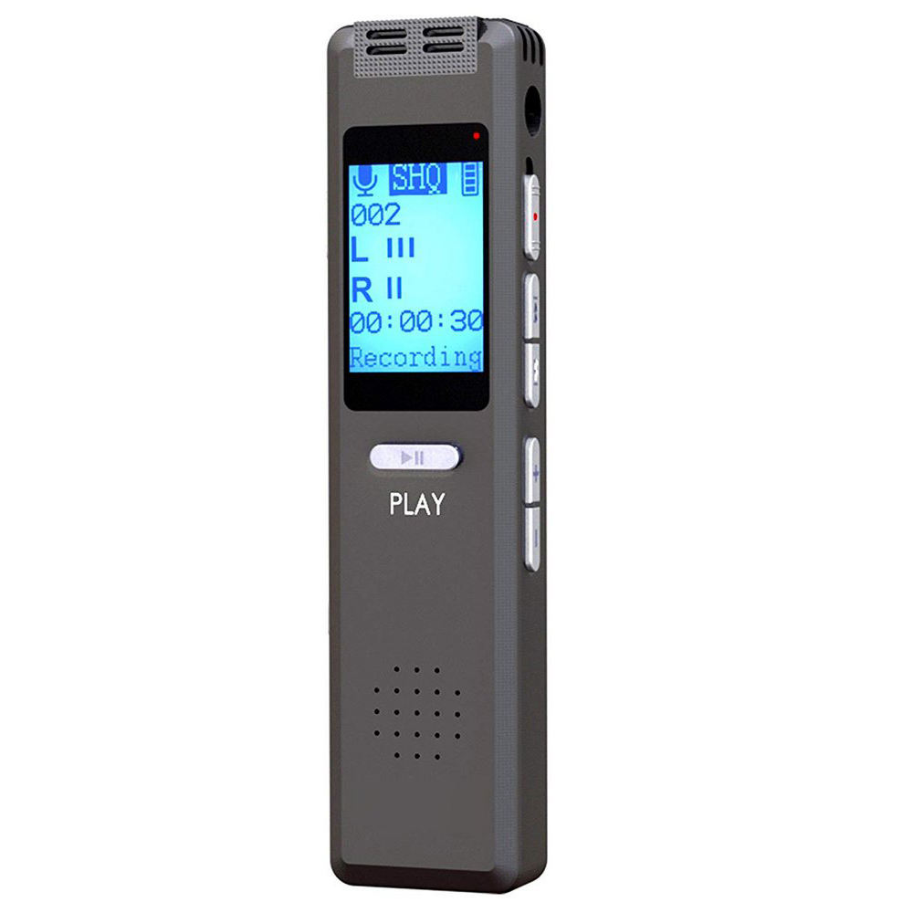 Portable Ultra Sensitive Microphone 21 Languages Support TF Card Mini Digital Voice Activated Recorder