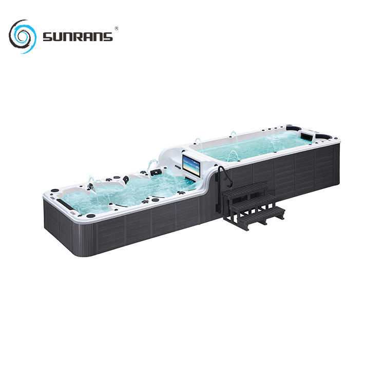 Sunrans 8 meter balboa large massage outdoor spa used swim spa pool