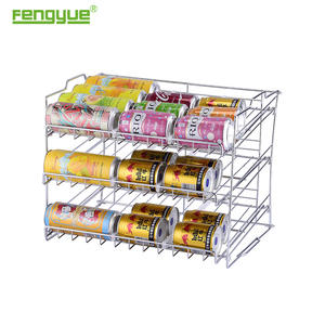 Fengyue Chrome Canned Food Display Rack,Stackable Can Rack Organizer