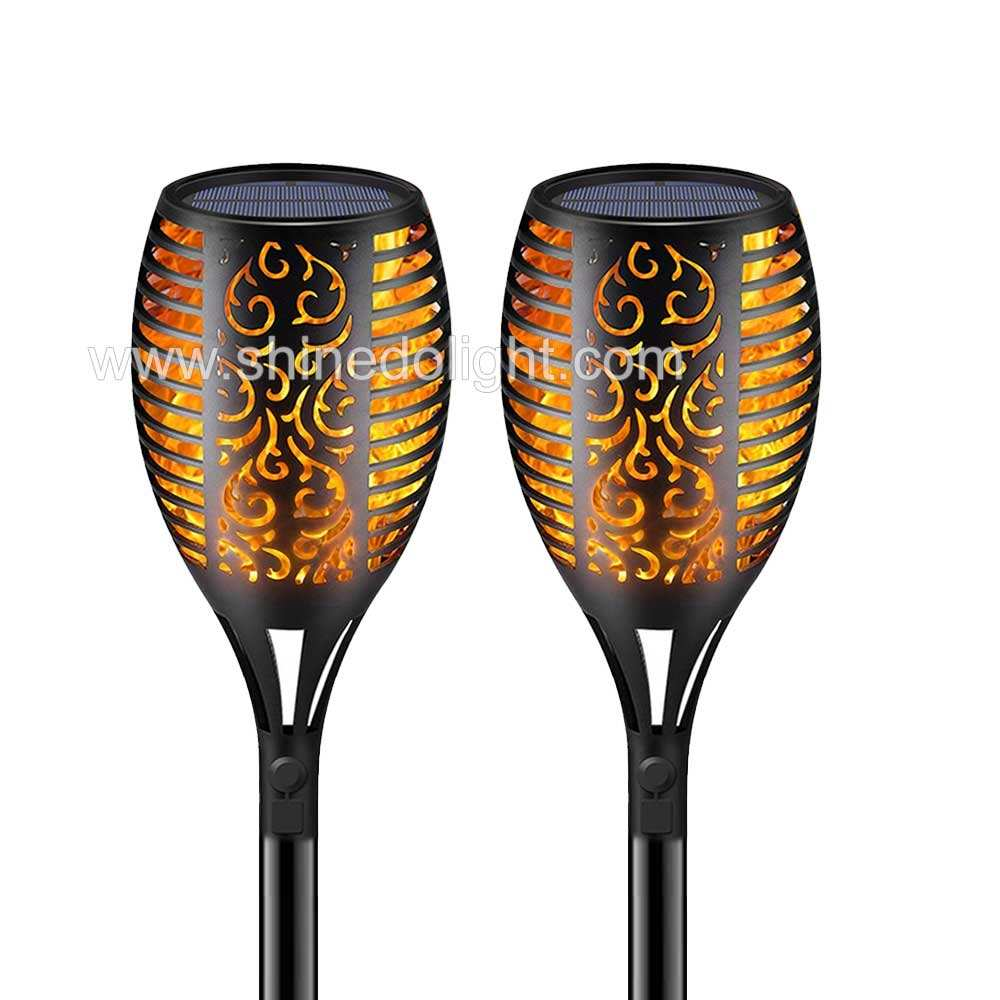 Path Torches Dancing Flame Lighting 96 LED Dusk to Dawn Flickering Tiki Torches Outdoor Waterproof garden decorations