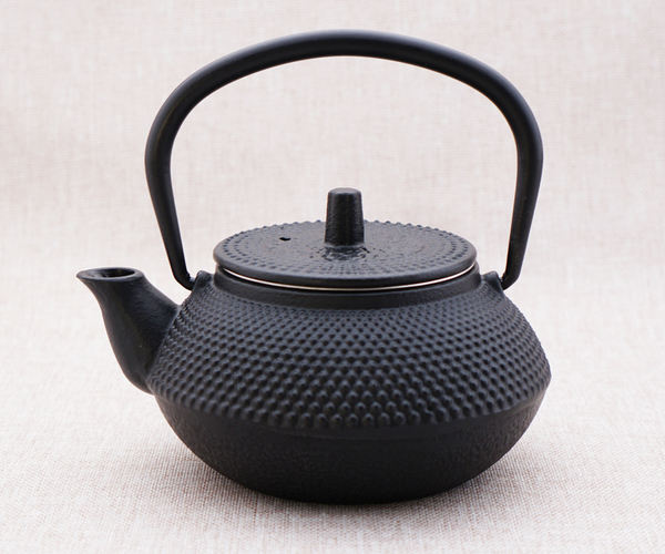 Hinomaru Collection Artisan Workshop Japanese Mini Tetsubin Tea Kettle Cast Iron Teapot with Stainless Steel Infuser 10 fl oz