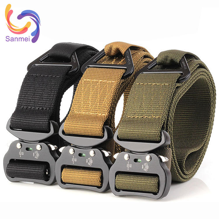 3.8x125cm army fans belt for special training, army uniform military equipment nylon belt
