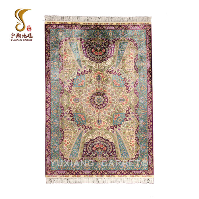 4*6ft Persian Style Genuine Antique Carpets Silk Handknotted Turkish Oriental Rugs