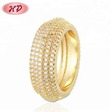 Latest Design Round Shape Saudi Arabia Gold Wedding Ring Price Promise Rings For Women
