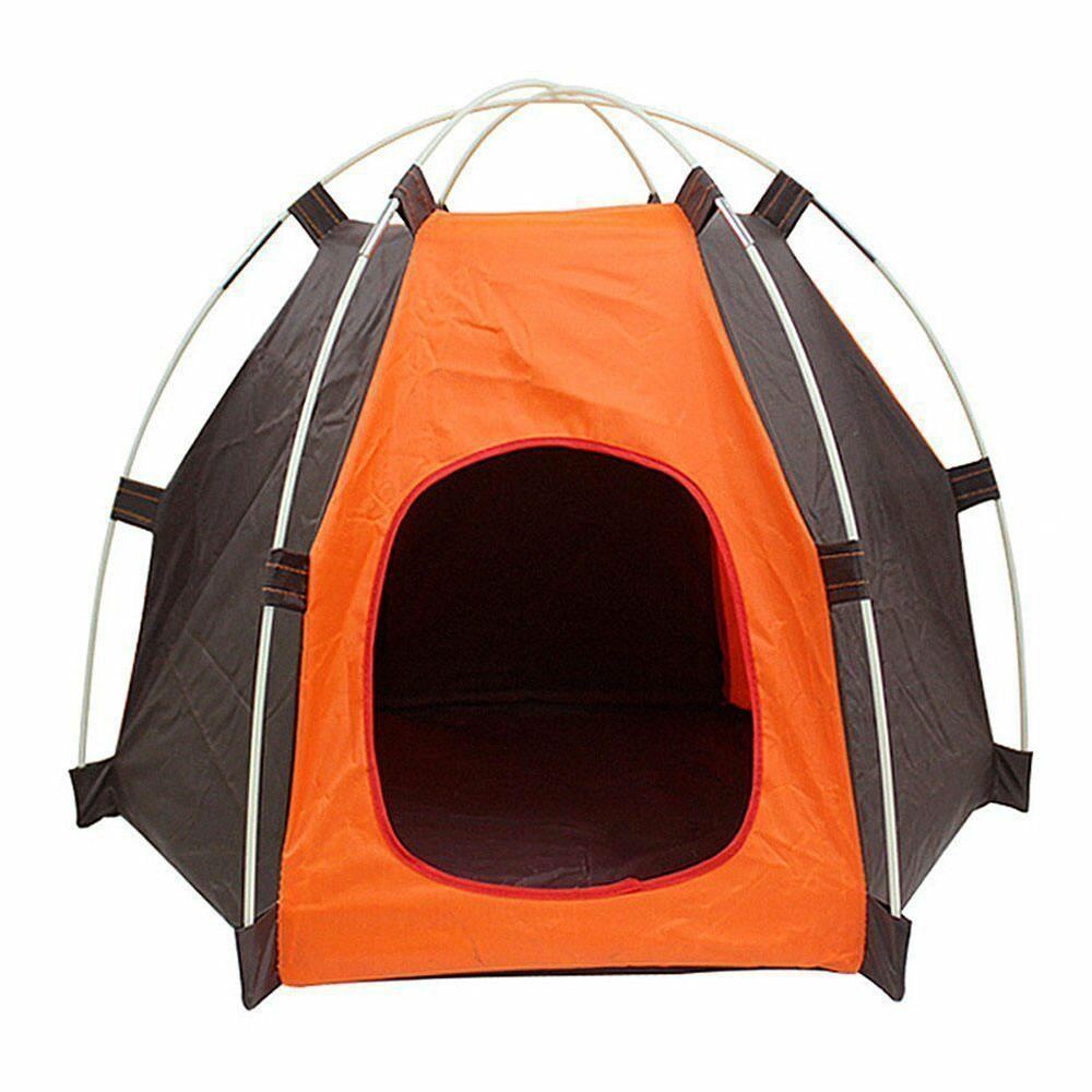 Dropshipping Portable foldable dog Pet house Bed tent Waterproof cat Outside Tipi cat tent