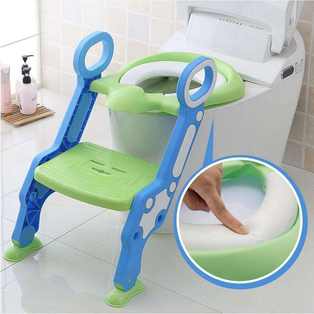 2020 New Baby Children Kids Boys Girls Potty Seat With Ladder Cover Toilet Folding Chair Pee Training Urinal Seating Potties