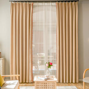 Decorativas Organza Window Pola Dekorasi Rumah Blackout Korea Tirai