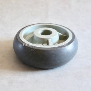 SS TPR Replacement 6 inch Single US Style Donuts Ball Tread Rubber Wheel for Bakery   Patisserie Equipment