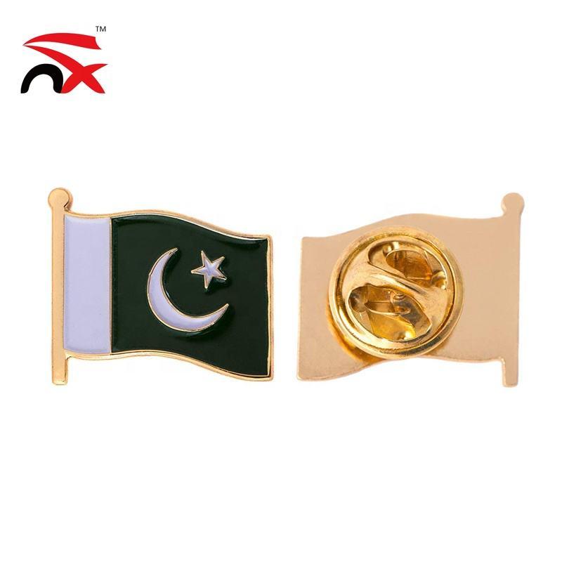 PAKISTAN FLAG Antique Silver Belt Buckle USA MADE Pakistani