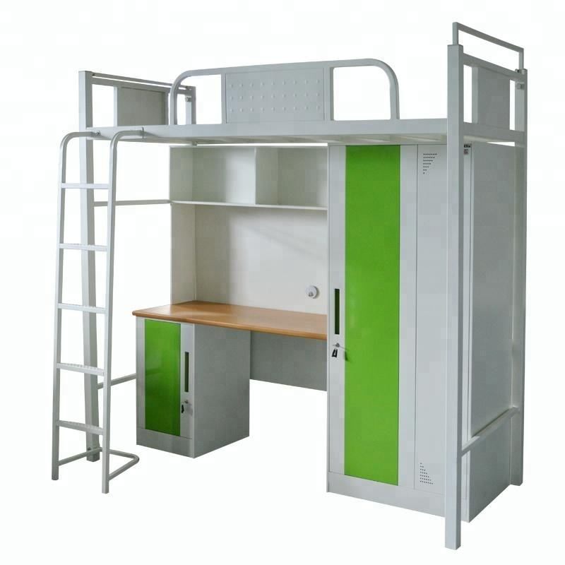 full over bunk bed fittings used kids beds with cabinet and desk steel Literas school furniture specification for sale