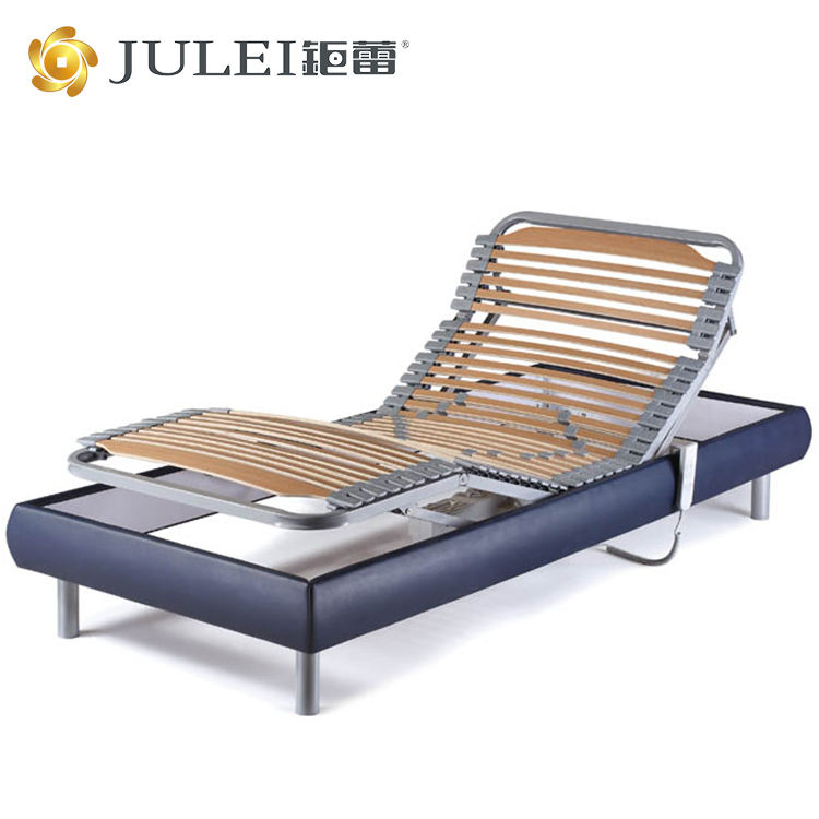 luxury series strong birch slats support adjustable electric metal bed frame bed base with German OKIN motor DJ-PW27