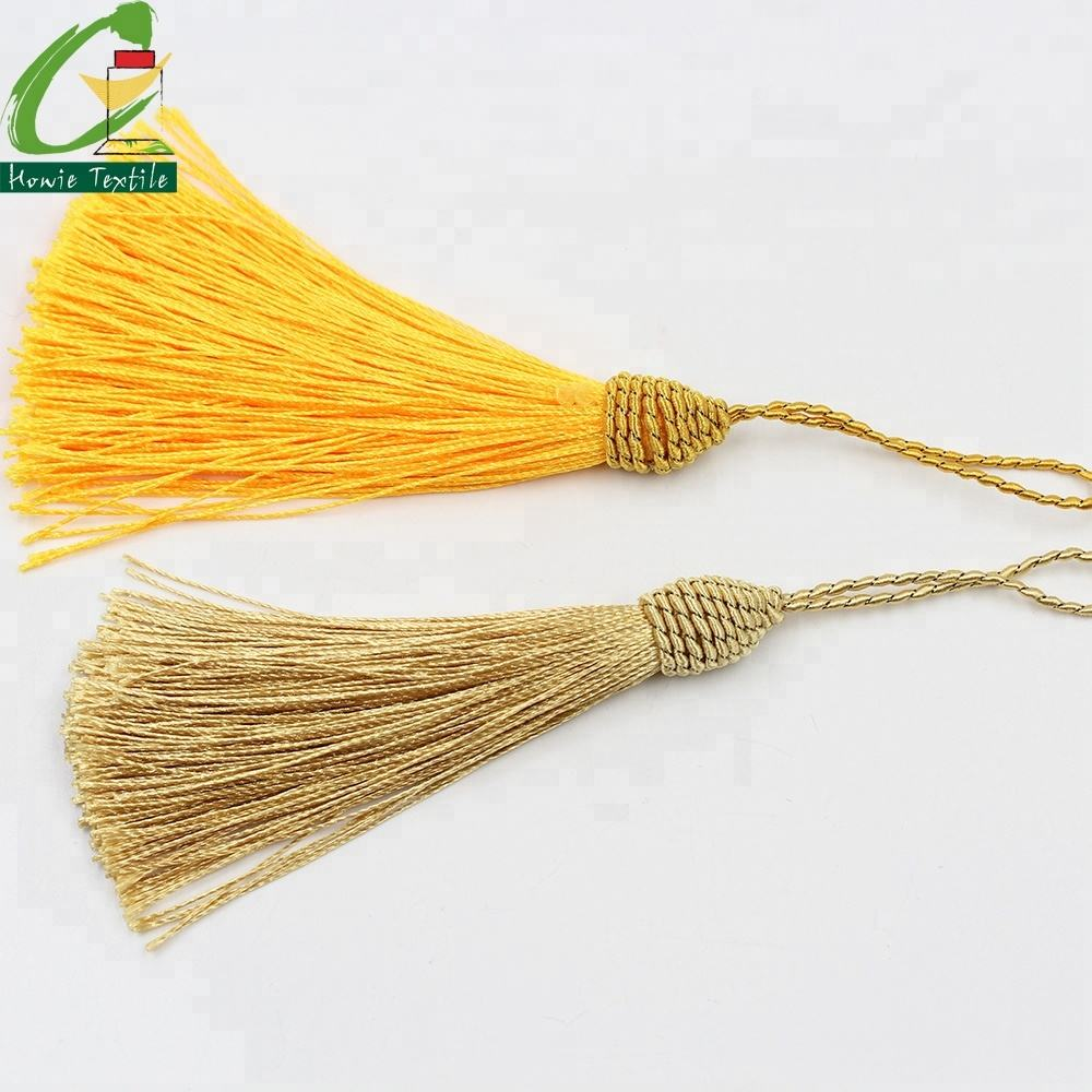 Custom Metallic Thread Bulk Gold Tassel Fringe for Bag Decoration