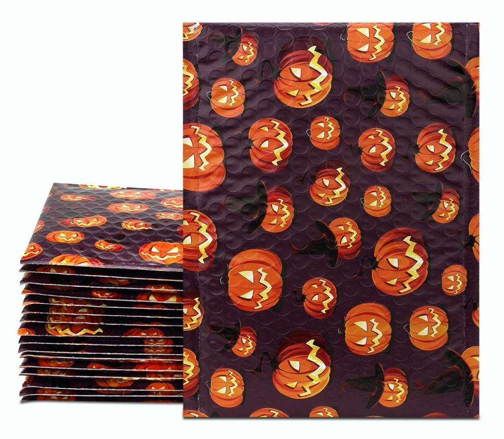 6x10 Bubble Padded Envelopes Halloween Designer Boutique Custom Bags CD/DVD Poly Bubble Padded Mailers