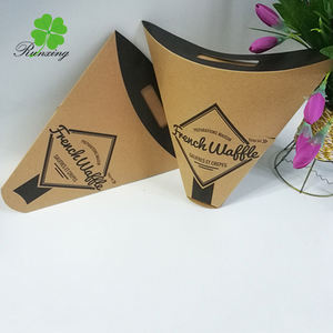 custom size and color printed french fries packaging box