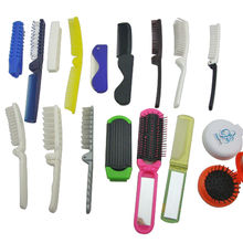 Airline Travel Folding Plastic Comb Portable Magic Hair Comb