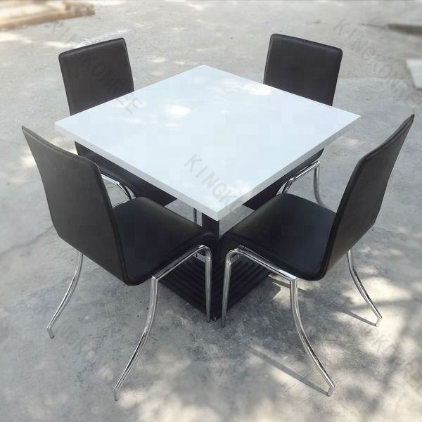 Polished White Used Restaurant Table And Chair For Sale