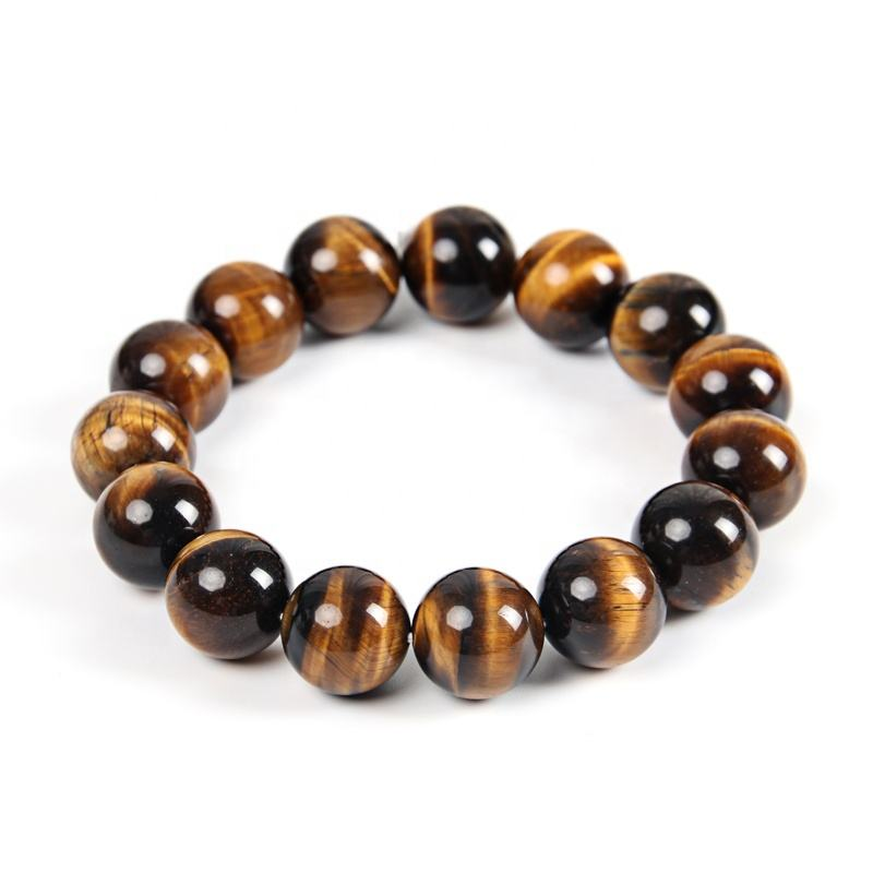 Grade AB+ Natural Stone Beads 4/6/8/10/12/14/16MM Mens Tiger Eye Bracelet