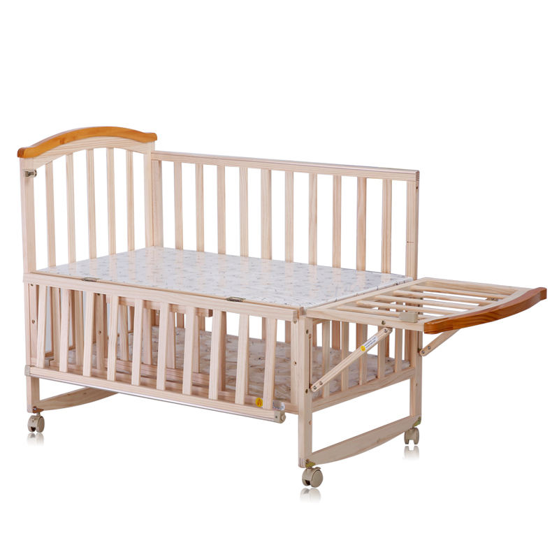 Extensible Convertible Wooden Baby Bed/Baby Cradle With Mosquito Net